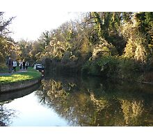 The canal at Avoncliff in Wiltshire Photographic Print