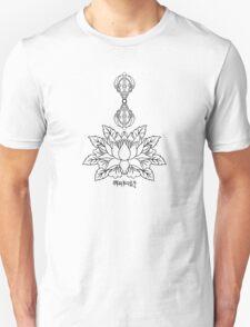 Lotus with Vajra and Om Mani Padme Hum Mantra Unisex T-Shirt