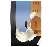 Art Deco styled Spain Flamenco dancer Poster