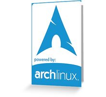 Powered by ArchLinux ! Greeting Card