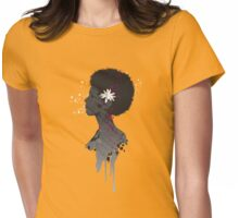 Flower Head Lady Womens Fitted T-Shirt