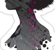 Flower Head Lady Sticker