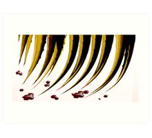 RED QUILL Art Print