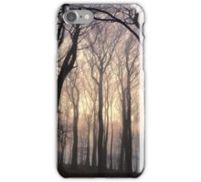 Tall Trees in Fog (silhouette) iPhone Case/Skin