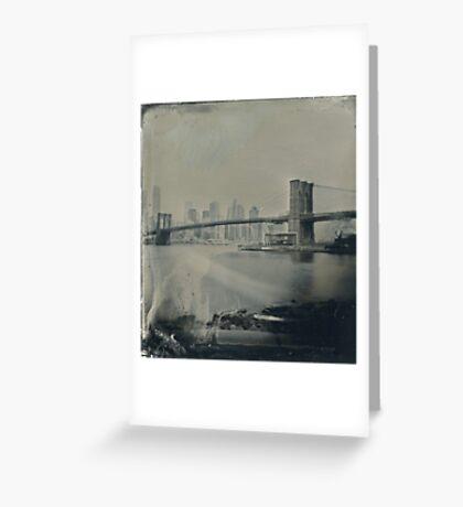 View From Brooklyn Bridge Park (Tintype) Greeting Card