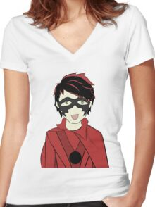 Mike-Ro-Wave Women's Fitted V-Neck T-Shirt