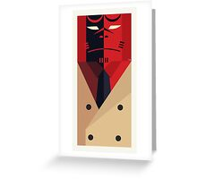 Boy from Hell in Trench Coat Greeting Card