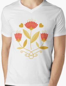 flowers everywhere/3 Mens V-Neck T-Shirt