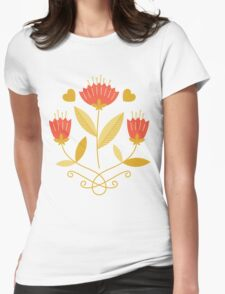 flowers everywhere/3 Womens Fitted T-Shirt