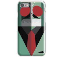 Rider with Kamen in Green Suit & Tie iPhone Case/Skin