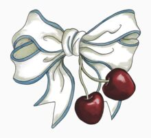 cherries-ribbon One Piece - Long Sleeve