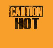 Caution: Hot Womens Fitted T-Shirt