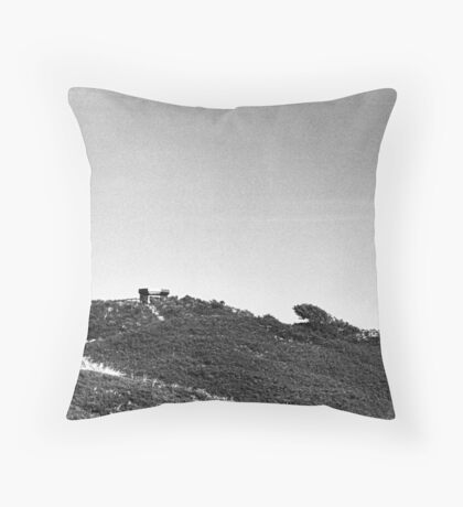 Moonrise Over Dunes Throw Pillow