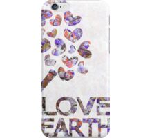 Purple blossom love earth iPhone Case/Skin