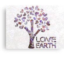 Purple blossom love earth Canvas Print