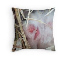 the hamster. Throw Pillow