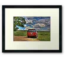 2008 Ford Expedition - Red Framed Print