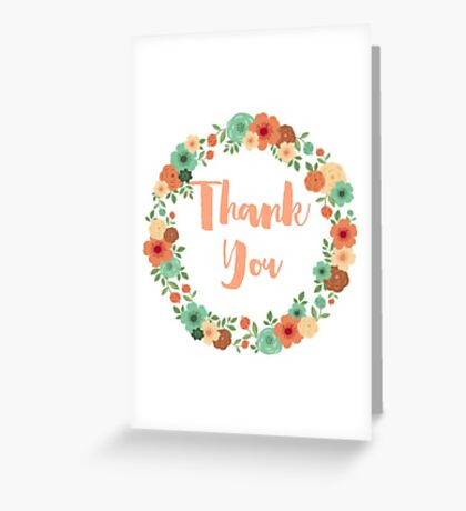 Vintage floral thanks greeting card vr2 Greeting Card