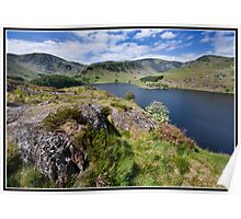 Views over Hawes Water to Harter Fell  Poster