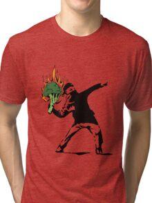 Vegan Banksy Tri-blend T-Shirt