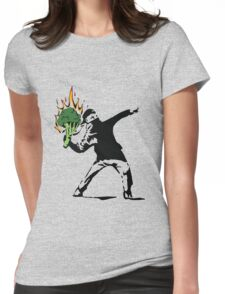 Vegan Banksy Womens Fitted T-Shirt