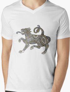 Celtic Lion Tee Mens V-Neck T-Shirt