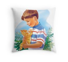 Dick and Puff Throw Pillow