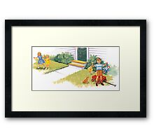 Dick Jane and Sally: I See You Framed Print