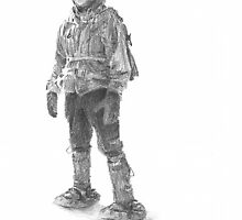 Field scientist drawing 5 by Mike Theuer