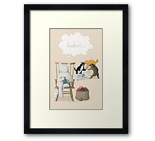 Of Cats and Yarn Framed Print