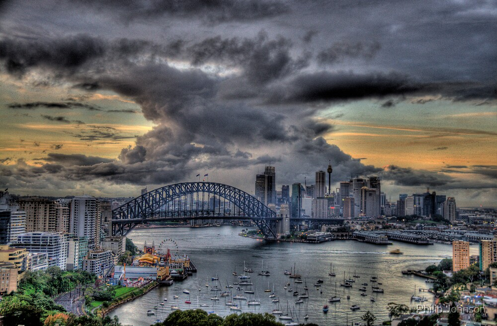 Trepidation - Moods Of A City - The HDR Experience by Philip Johnson