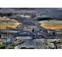 Trepidation - Moods Of A City - The HDR Experience Photographic Print