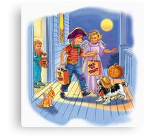 Dick and jane Trick or Treat Canvas Print