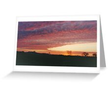 Easton sunrise Greeting Card