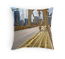 Steel in Yellow Throw Pillow
