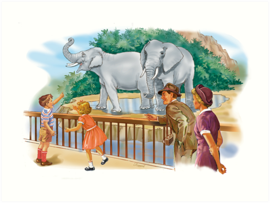 dick and Jane At the Zoo by larry ruppert