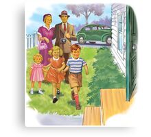 Dick and Jane Family Canvas Print