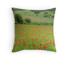A Plethora of Poppies  Throw Pillow