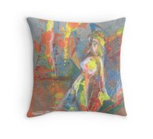 Nude at The Beach Throw Pillow
