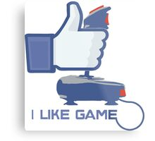 I Like Game - Facebook Metal Print