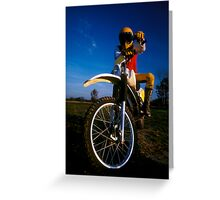 Dirt Biker Greeting Card