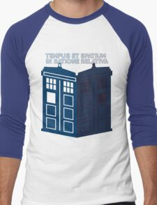 LATIN TARDIS Men's Baseball ¾ T-Shirt