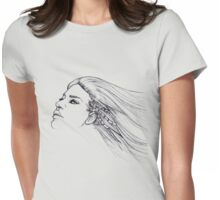 Plugged in Womens Fitted T-Shirt