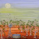 "Ned Kelly ""Ned's Pool"" Australia Original Sold 7 July 2009 by EJCairns"