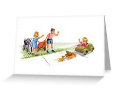 Dick and Jane and Sally: Go Go Go Greeting Card
