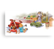 Dick and Jane: reckless driving Canvas Print