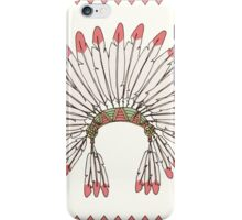 Hand drawn native american indian chief headdress iPhone Case/Skin