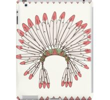 Hand drawn native american indian chief headdress iPad Case/Skin