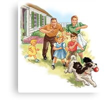 Dick and Jane :Play Ball Canvas Print