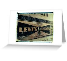 Levis Ad Greeting Card
